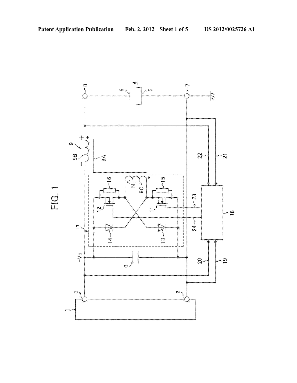 REVERSED-POLARITY PULSE GENERATING CIRCUIT FOR DIRECT CURRENT PLASMA AND     DIRECT CURRENT PLASMA POWER SUPPLY UNIT - diagram, schematic, and image 02