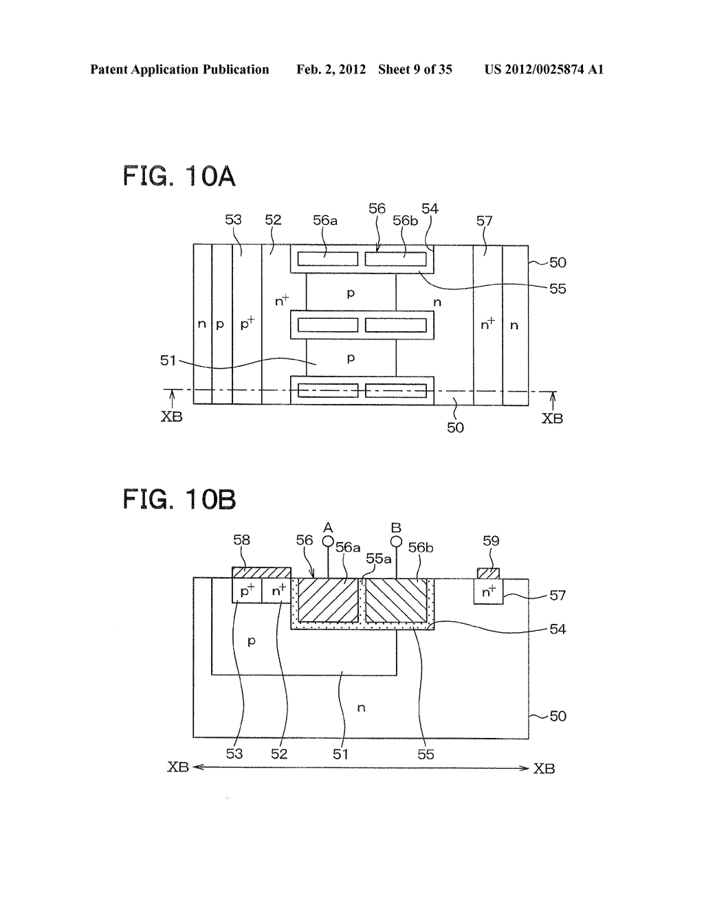 SEMICONDUCTOR DEVICE HAVING SWITCHING ELEMENT AND FREE WHEEL DIODE AND     METHOD FOR CONTROLLING THE SAME - diagram, schematic, and image 10