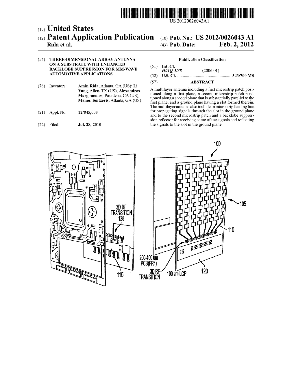 THREE-DIMENSIONAL ARRAY ANTENNA ON A SUBSTRATE WITH ENHANCED