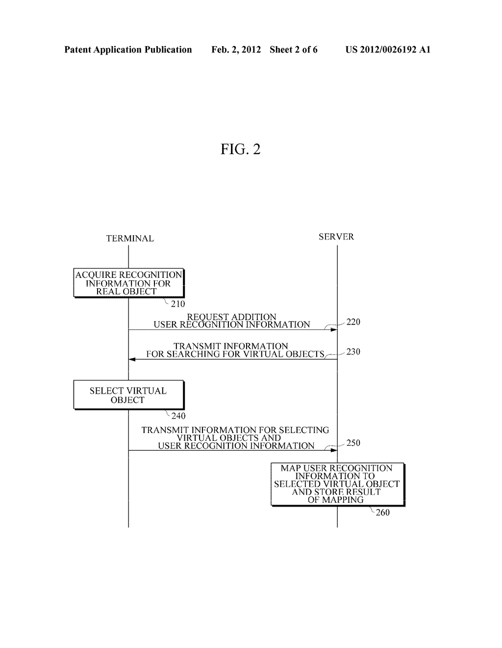 APPARATUS AND METHOD FOR PROVIDING AUGMENTED REALITY (AR) USING USER     RECOGNITION INFORMATION - diagram, schematic, and image 03