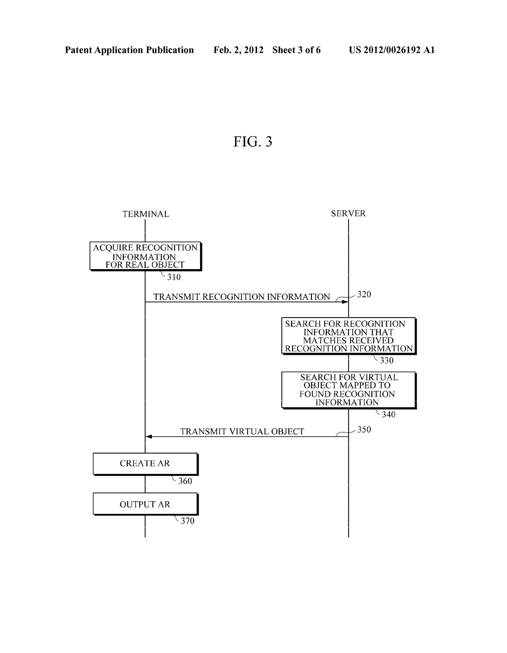 APPARATUS AND METHOD FOR PROVIDING AUGMENTED REALITY (AR) USING USER     RECOGNITION INFORMATION - diagram, schematic, and image 04