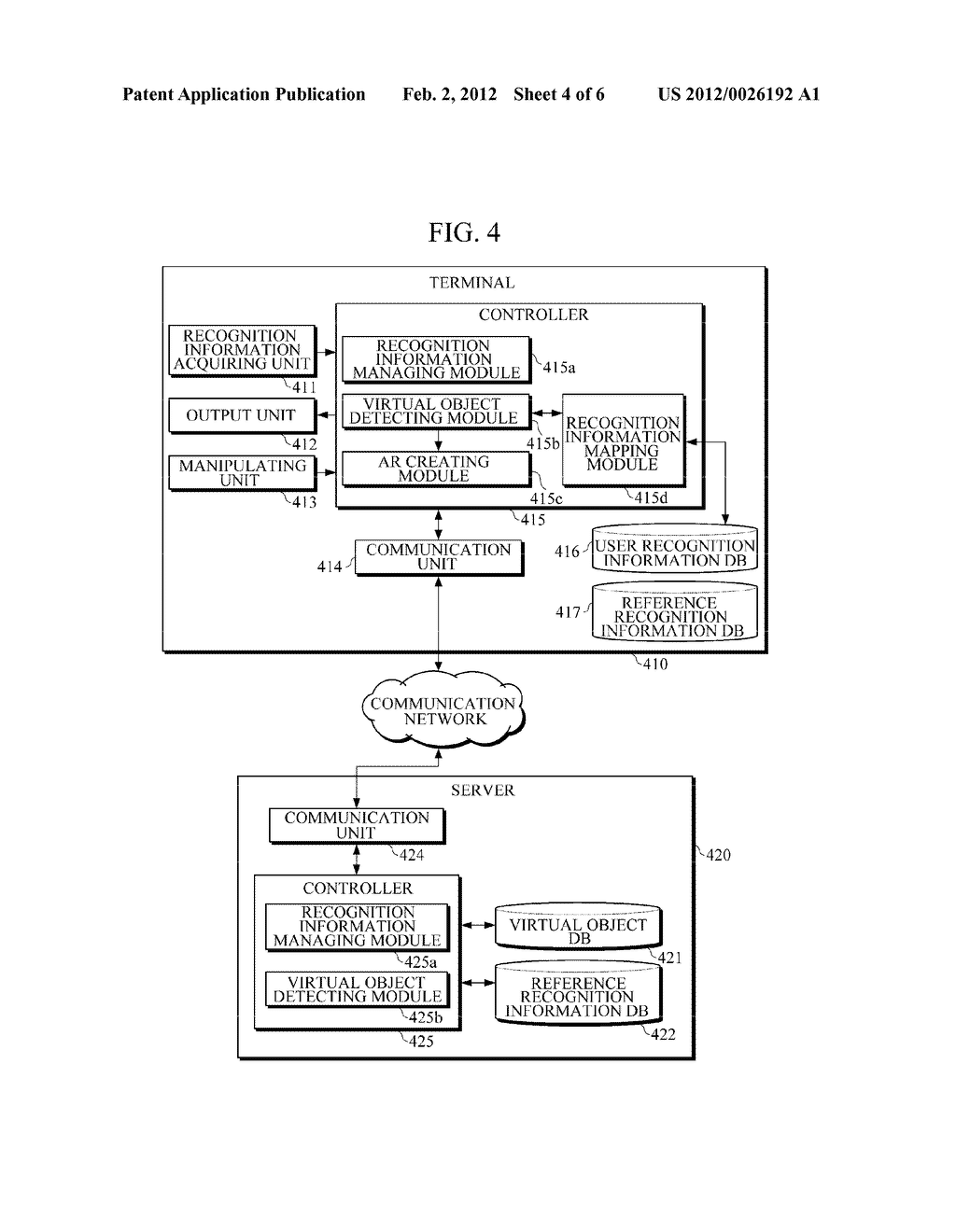 APPARATUS AND METHOD FOR PROVIDING AUGMENTED REALITY (AR) USING USER     RECOGNITION INFORMATION - diagram, schematic, and image 05