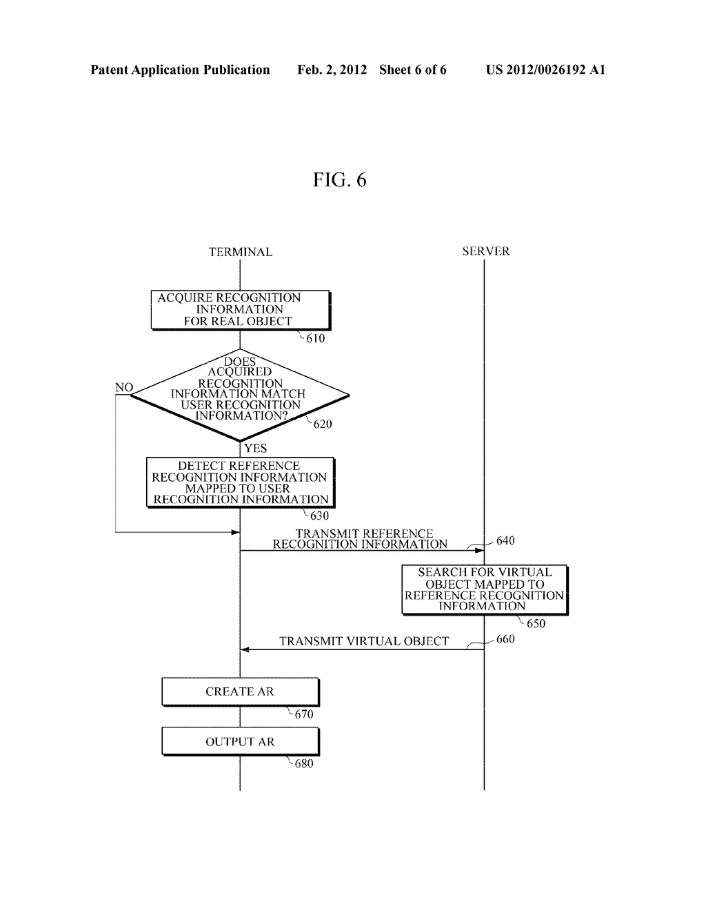 APPARATUS AND METHOD FOR PROVIDING AUGMENTED REALITY (AR) USING USER     RECOGNITION INFORMATION - diagram, schematic, and image 07