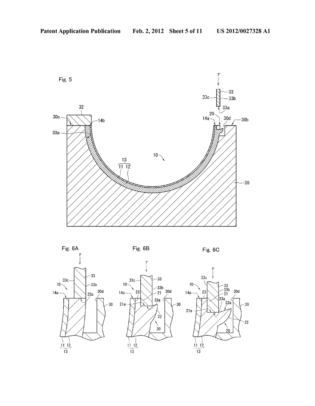 MANUFACTURING METHOD OF HALF BEARING AND HALF PLAIN BEARING - diagram, schematic, and image 06