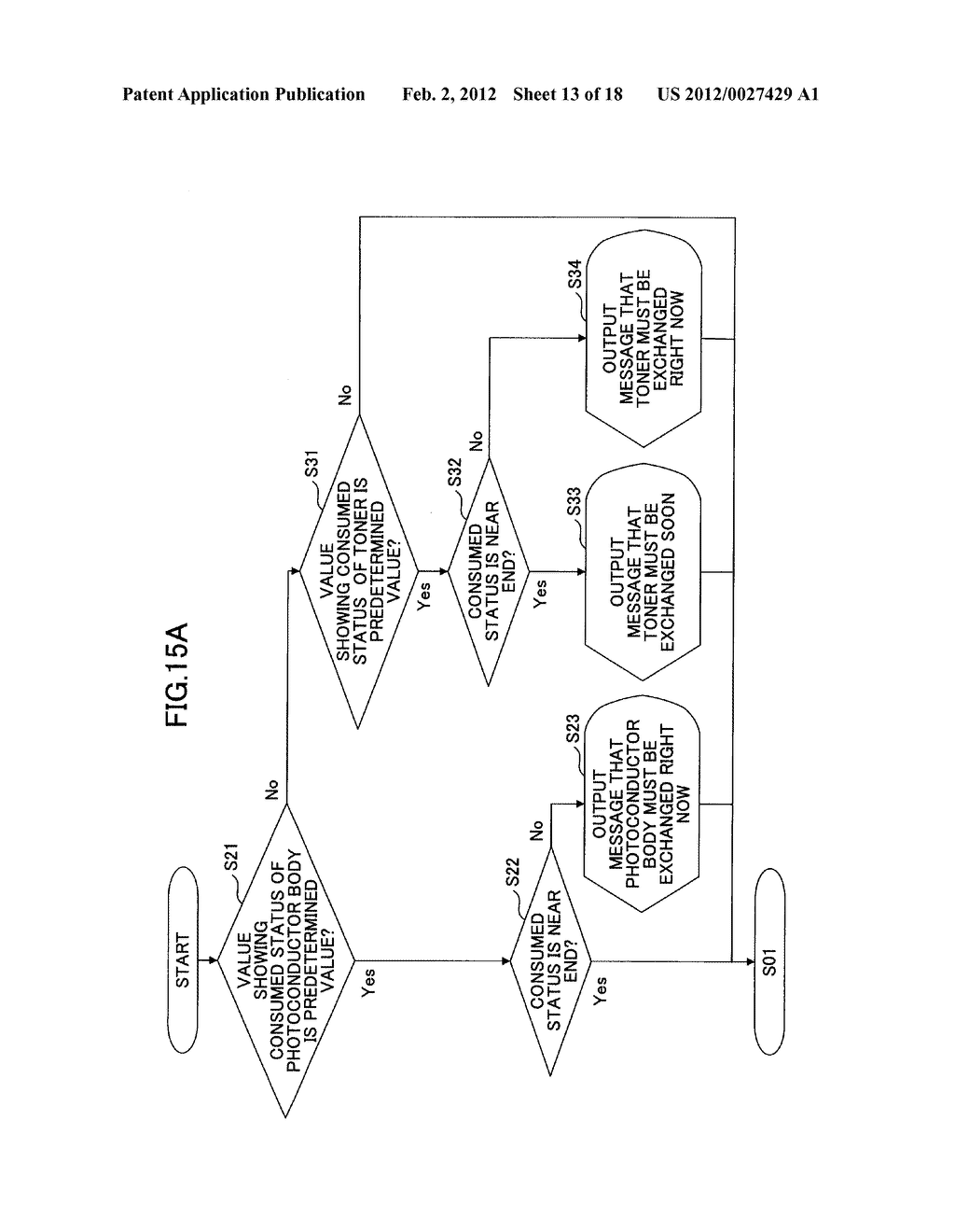 IMAGE FORMING APPARATUS AND OUTPUT SETTING METHOD OF CONSUMED STATUS OF     CONSUMABLE ITEMS OF THE IMAGE FORMING APPARATUS - diagram, schematic, and image 14