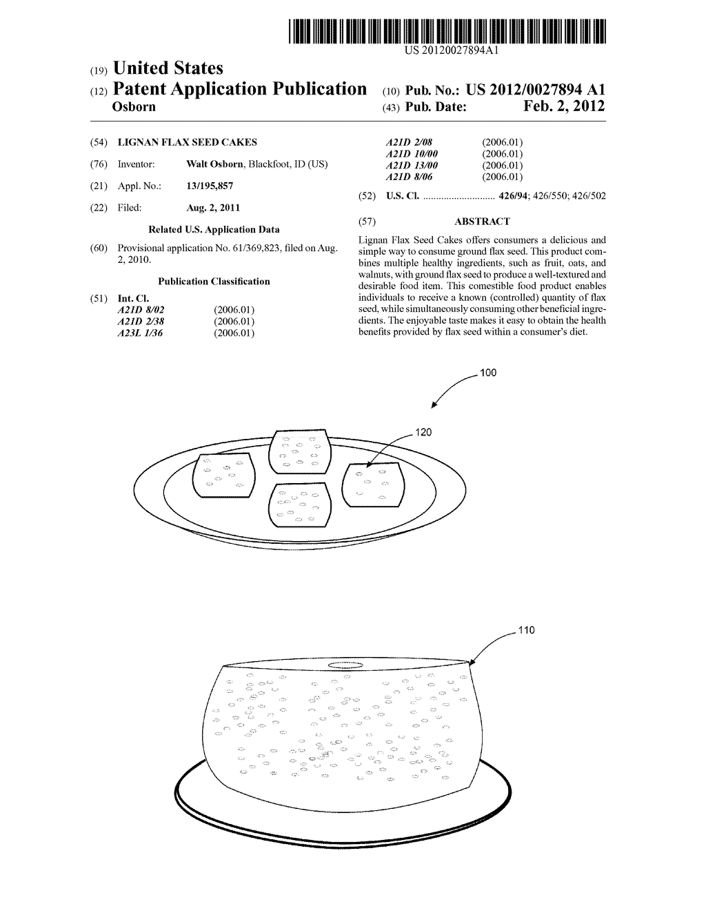 LIGNAN FLAX SEED CAKES - diagram, schematic, and image 01
