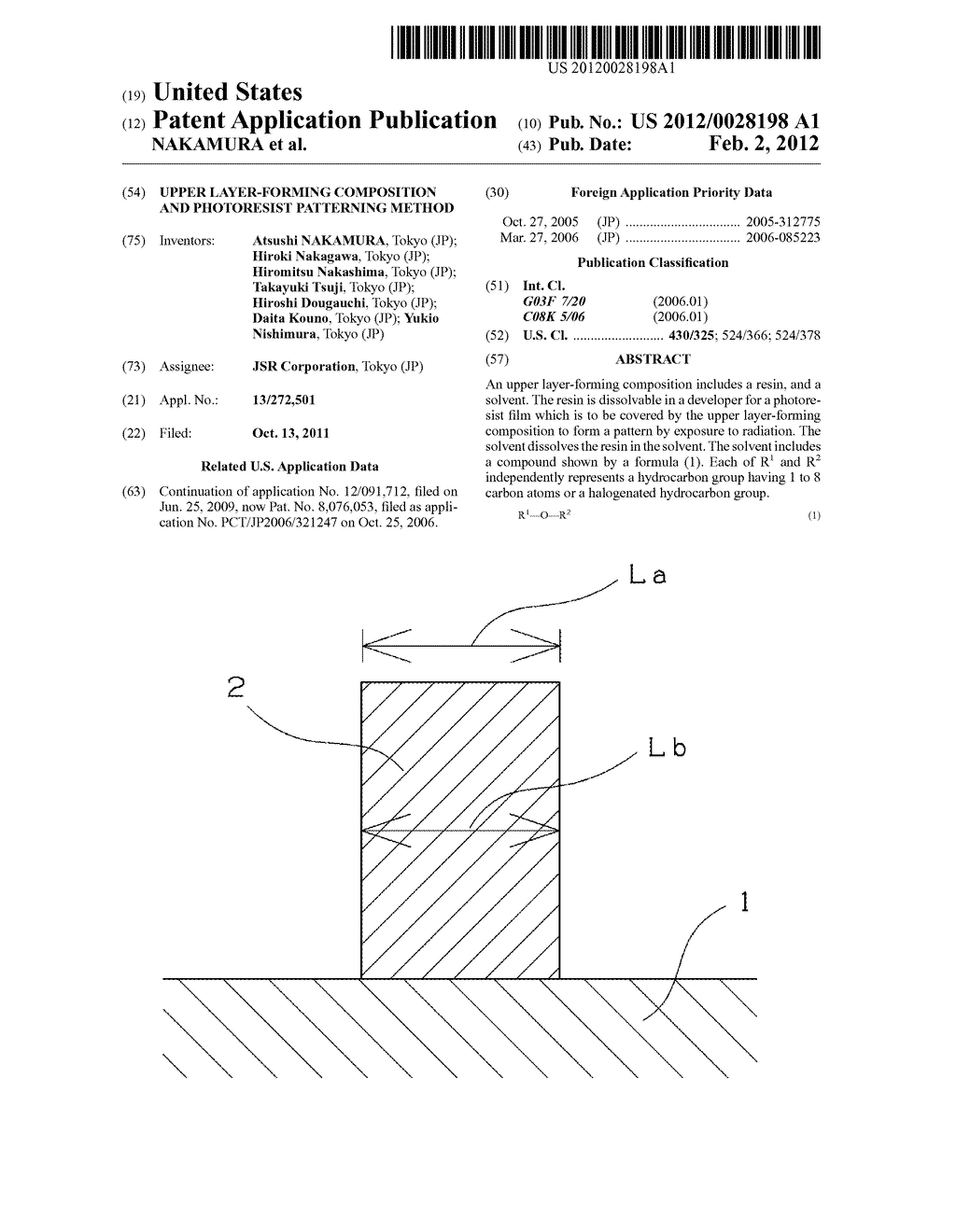 UPPER LAYER-FORMING COMPOSITION AND PHOTORESIST PATTERNING METHOD - diagram, schematic, and image 01