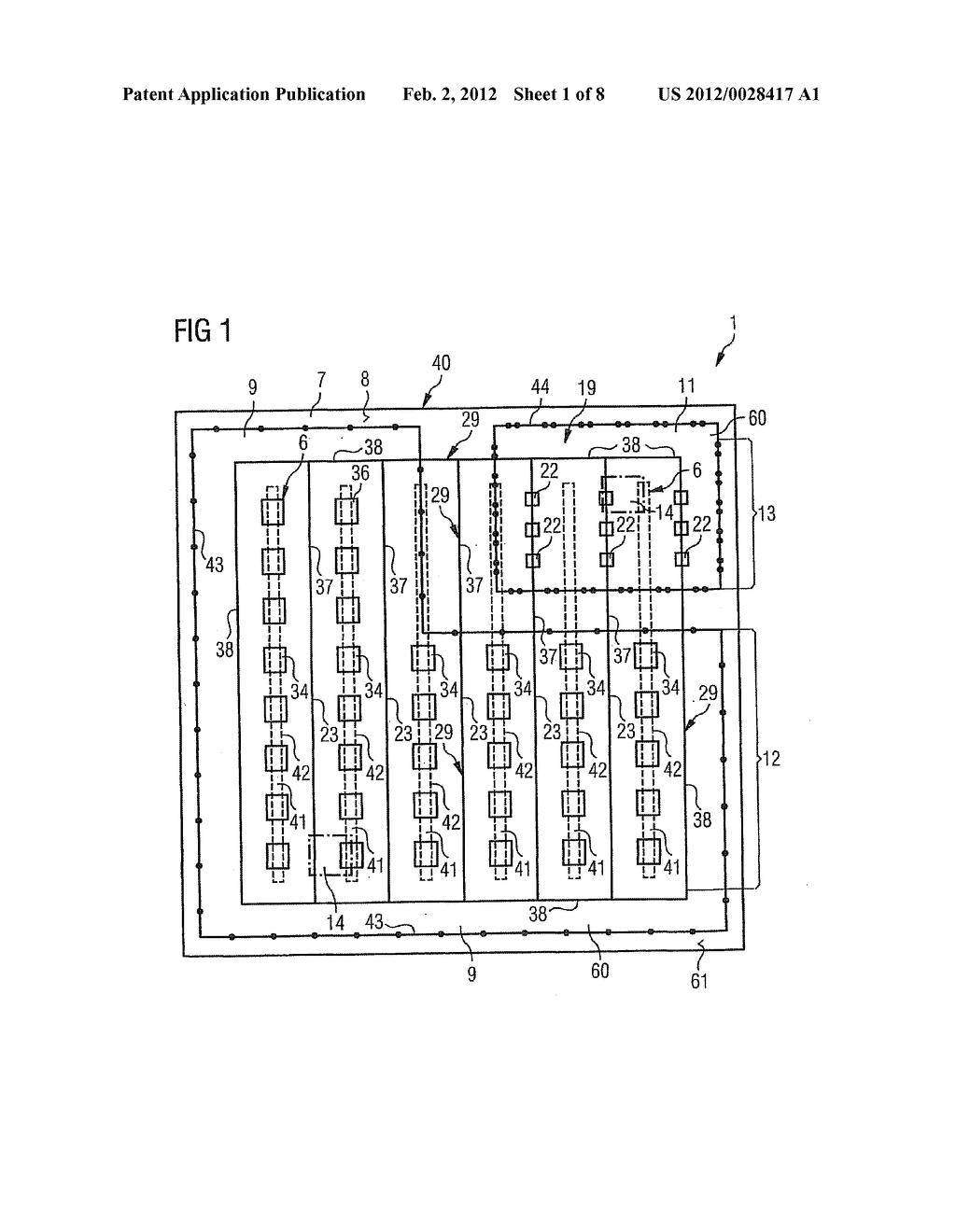 SEMICONDUCTOR COMPONENT WITH CELL STRUCTURE AND METHOD FOR PRODUCING THE     SAME - diagram, schematic, and image 02