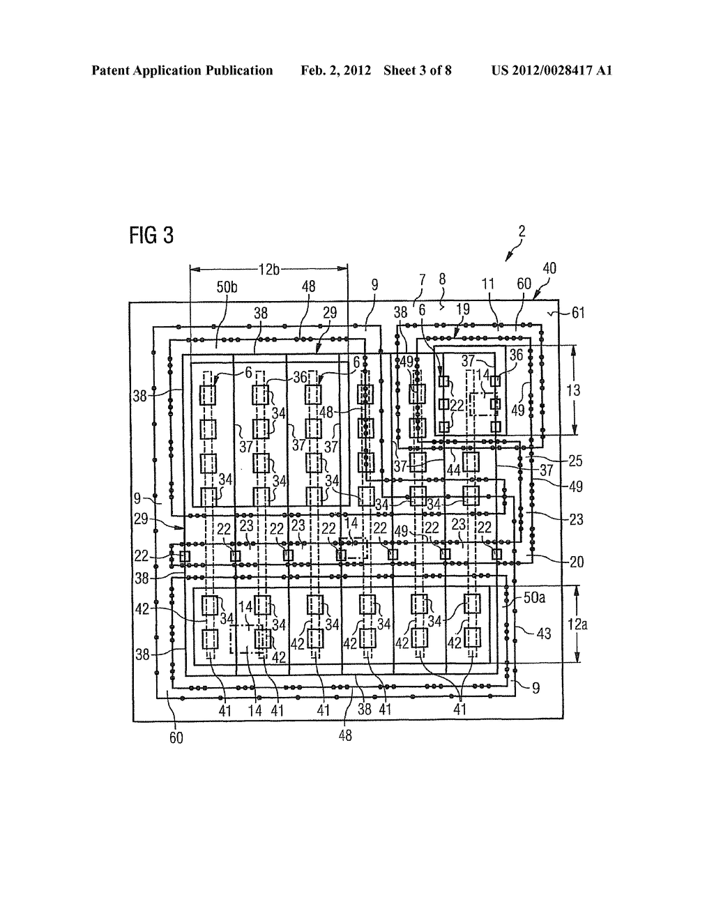 SEMICONDUCTOR COMPONENT WITH CELL STRUCTURE AND METHOD FOR PRODUCING THE     SAME - diagram, schematic, and image 04