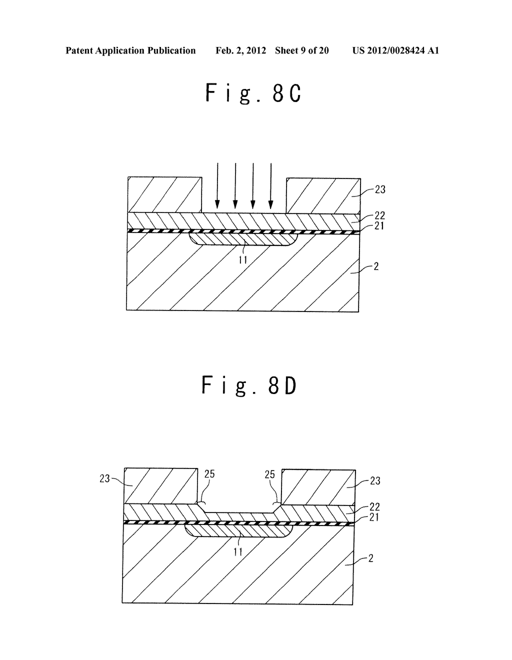 MANUFACTURE METHOD OF A SPLIT GATE NONVOLATILE MEMORY CELL - diagram, schematic, and image 10