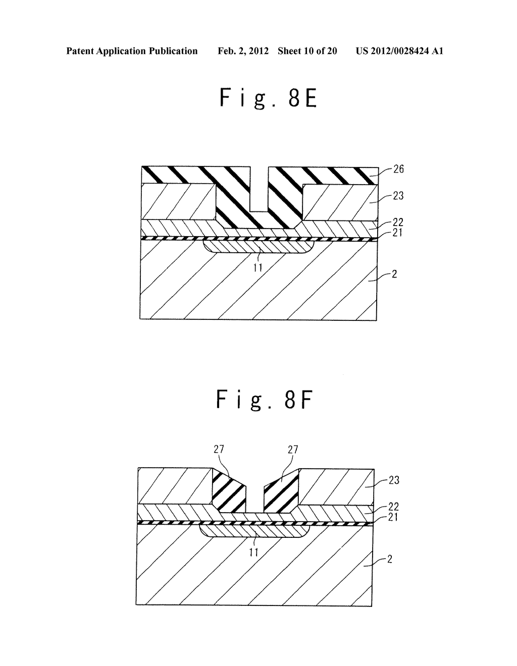 MANUFACTURE METHOD OF A SPLIT GATE NONVOLATILE MEMORY CELL - diagram, schematic, and image 11