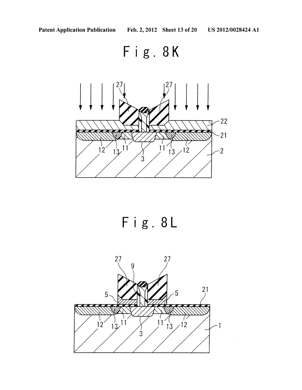 MANUFACTURE METHOD OF A SPLIT GATE NONVOLATILE MEMORY CELL - diagram, schematic, and image 14