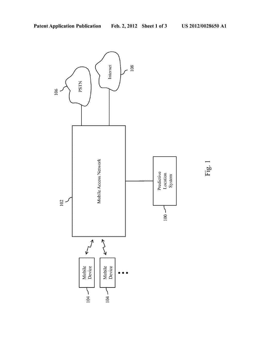 SYSTEM AND METHOD FOR PREDICTING FUTURE LOCATIONS OF MOBILE COMMUNICATION     DEVICES USING CONNECTION-RELATED DATA OF A MOBILE ACCESS NETWORK - diagram, schematic, and image 02