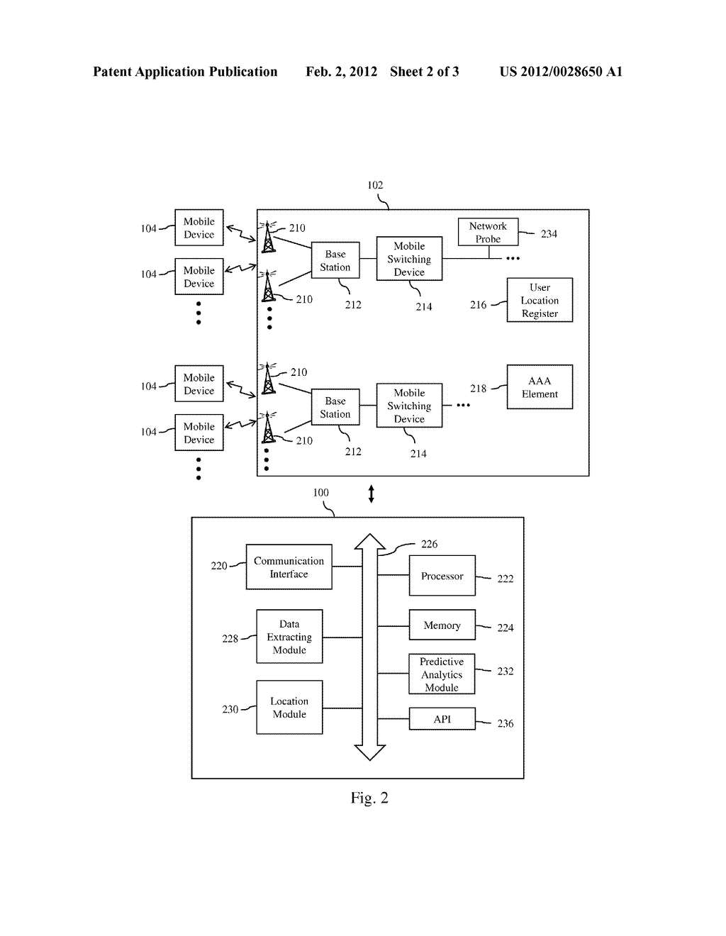 SYSTEM AND METHOD FOR PREDICTING FUTURE LOCATIONS OF MOBILE COMMUNICATION     DEVICES USING CONNECTION-RELATED DATA OF A MOBILE ACCESS NETWORK - diagram, schematic, and image 03