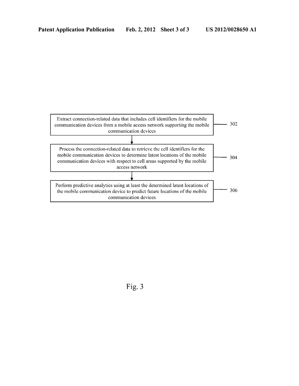 SYSTEM AND METHOD FOR PREDICTING FUTURE LOCATIONS OF MOBILE COMMUNICATION     DEVICES USING CONNECTION-RELATED DATA OF A MOBILE ACCESS NETWORK - diagram, schematic, and image 04