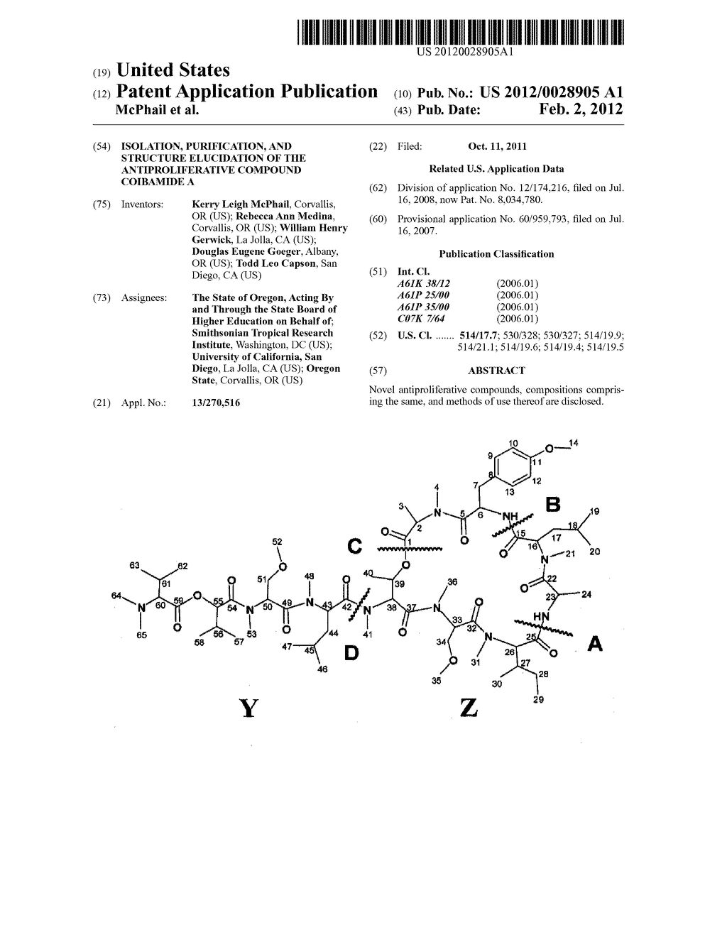 Isolation, Purification, and Structure Elucidation of the     Antiproliferative Compound Coibamide A - diagram, schematic, and image 01