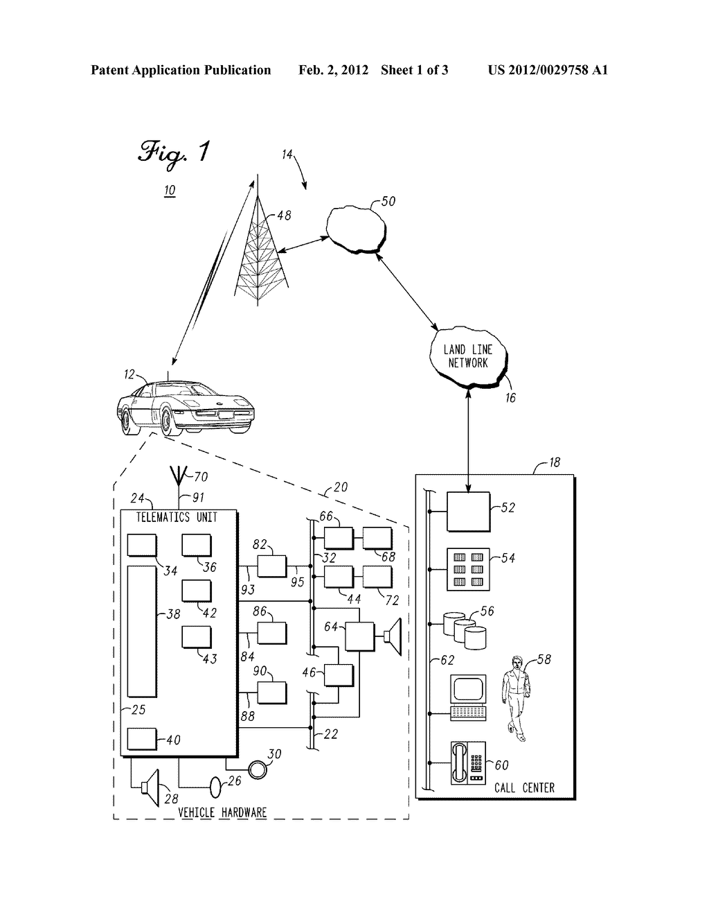 TELEMATICS UNIT AND METHOD AND SYSTEM FOR INITIATING VEHICLE CONTROL USING     TELEMATICS UNIT INFORMATION - diagram, schematic, and image 02