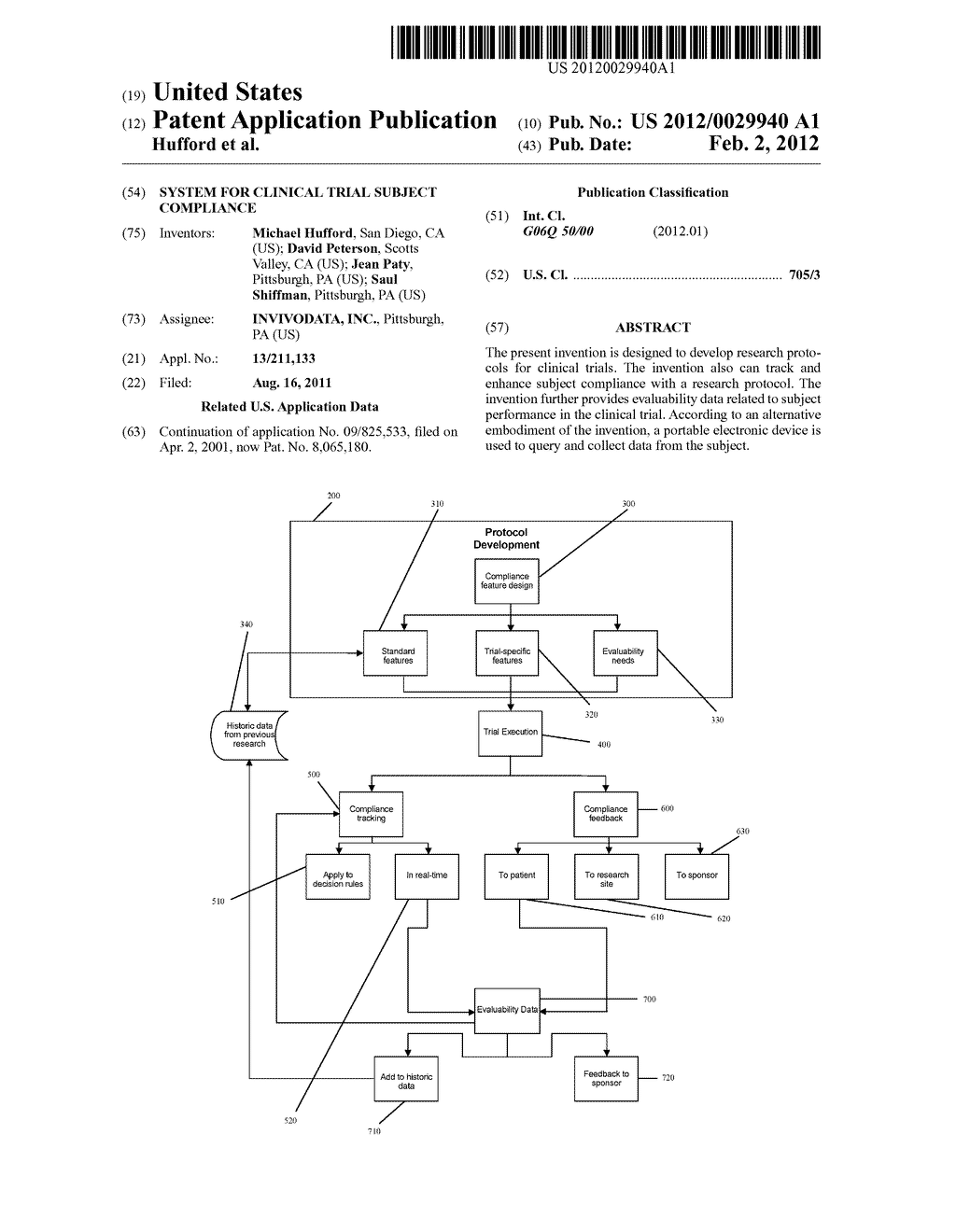 System for Clinical Trial Subject Compliance - diagram, schematic, and image 01