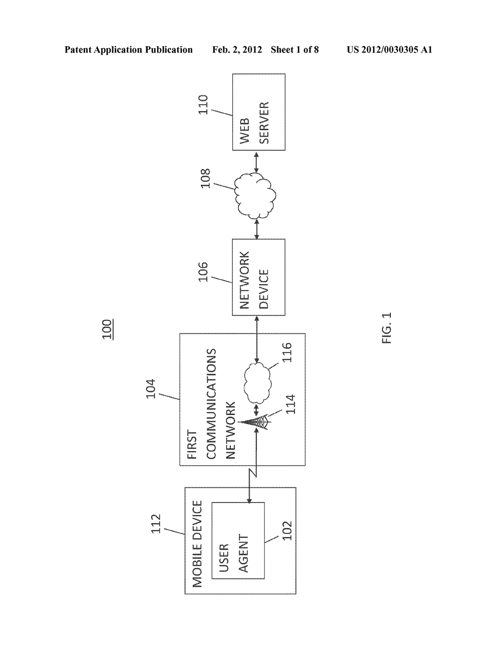 METHOD AND SYSTEM FOR DELIVERING EMBEDDED OBJECTS IN A WEBPAGE TO A USER     AGENT USING A NETWORK DEVICE - diagram, schematic, and image 02