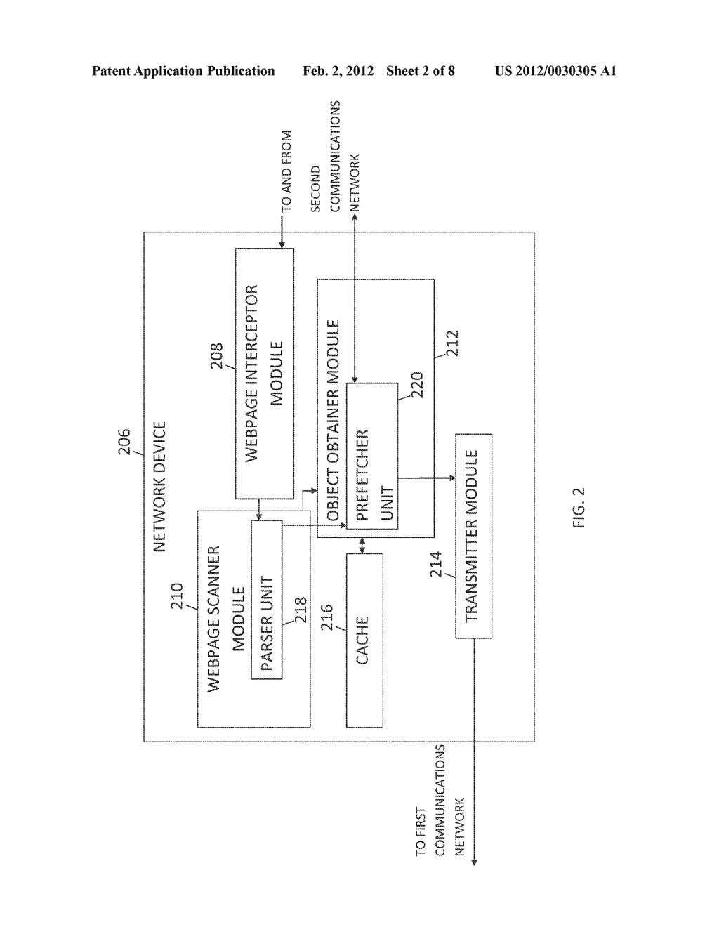 METHOD AND SYSTEM FOR DELIVERING EMBEDDED OBJECTS IN A WEBPAGE TO A USER     AGENT USING A NETWORK DEVICE - diagram, schematic, and image 03