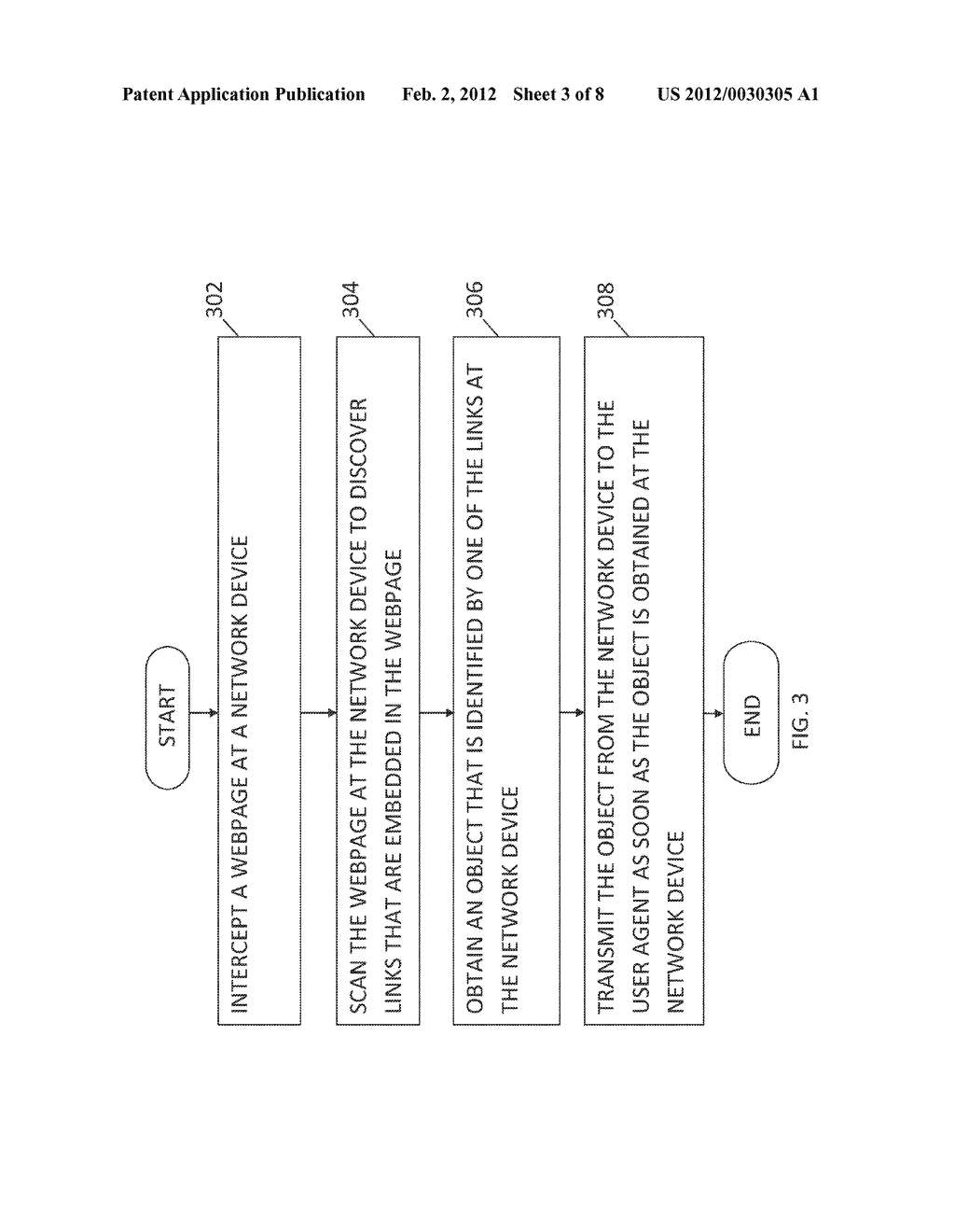 METHOD AND SYSTEM FOR DELIVERING EMBEDDED OBJECTS IN A WEBPAGE TO A USER     AGENT USING A NETWORK DEVICE - diagram, schematic, and image 04