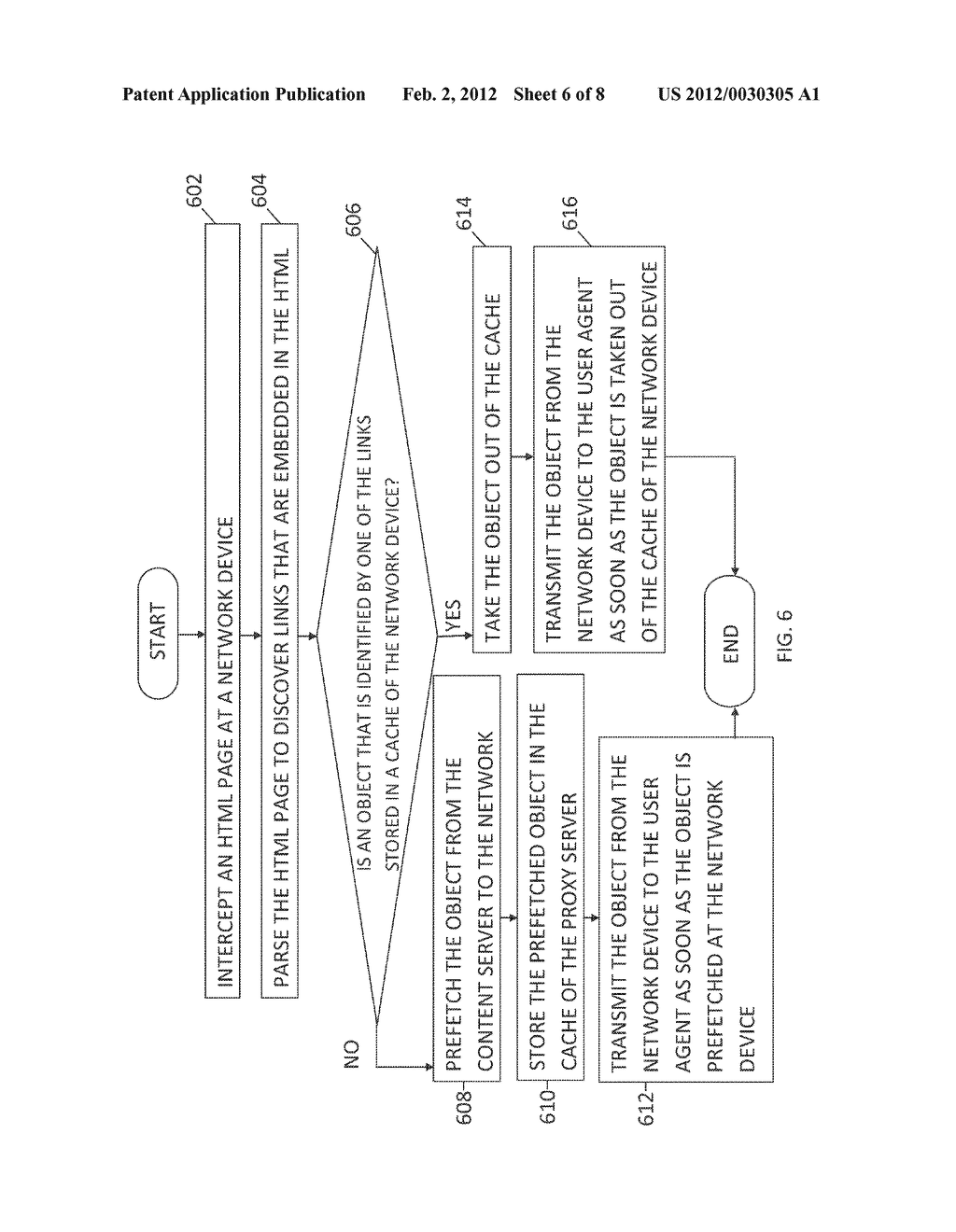 METHOD AND SYSTEM FOR DELIVERING EMBEDDED OBJECTS IN A WEBPAGE TO A USER     AGENT USING A NETWORK DEVICE - diagram, schematic, and image 07