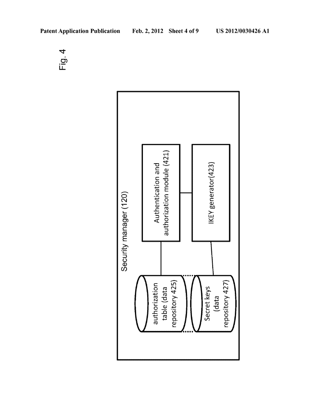 METHOD OF ACCESS CONTROL TO STORED INFORMATION AND SYSTEM THEREOF - diagram, schematic, and image 05