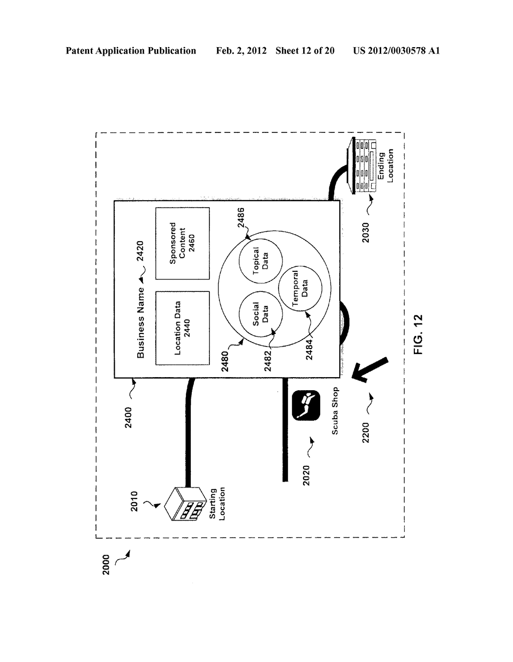 SYSTEM AND METHOD FOR CONTEXT ENHANCED MAPPING WITHIN A USER INTERFACE - diagram, schematic, and image 13