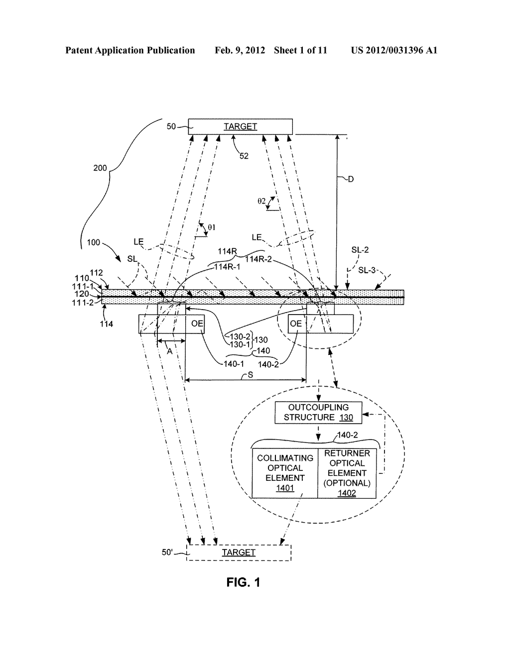 Luminescent Solar Concentrator With Distributed Outcoupling Structures And     Microoptical Elements - diagram, schematic, and image 02