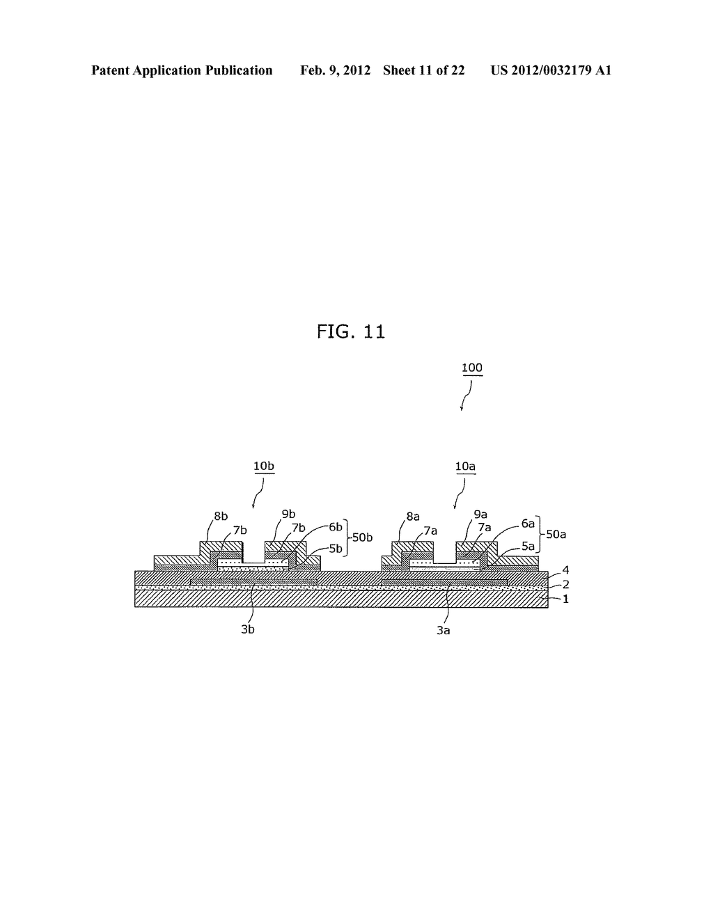 THIN-FILM TRANSISTOR ARRAY DEVICE, ORGANIC EL DISPLAY DEVICE, AND METHOD     OF MANUFACTURING THIN-FILM TRANSISTOR ARRAY DEVICE - diagram, schematic, and image 12