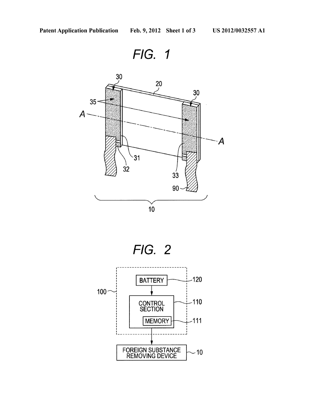 VIBRATION GENERATING DEVICE, DRIVING METHOD THEREFOR, FOREIGN SUBSTANCE     REMOVING DEVICE, AND OPTICAL DEVICE - diagram, schematic, and image 02