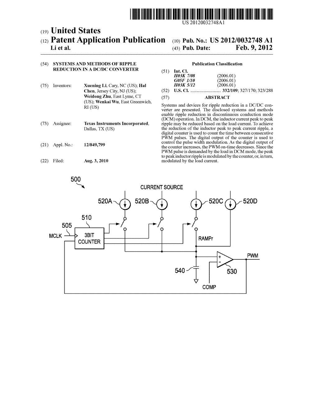 Systems and Methods of Ripple Reduction in a DC/DC Converter - diagram, schematic, and image 01