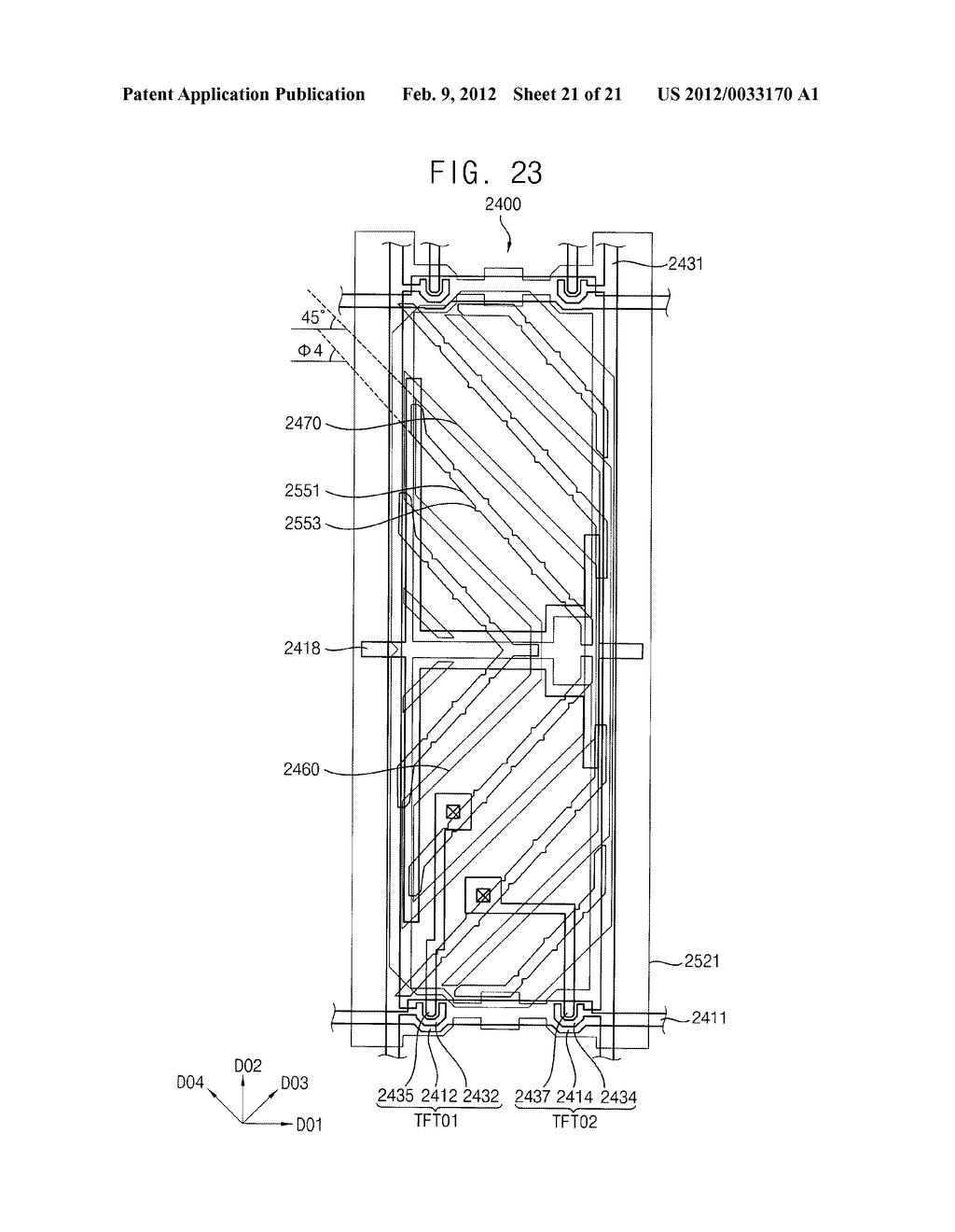 ARRAY SUBSTRATE AND DISPLAY DEVICE HAVING THE SAME - diagram, schematic, and image 22