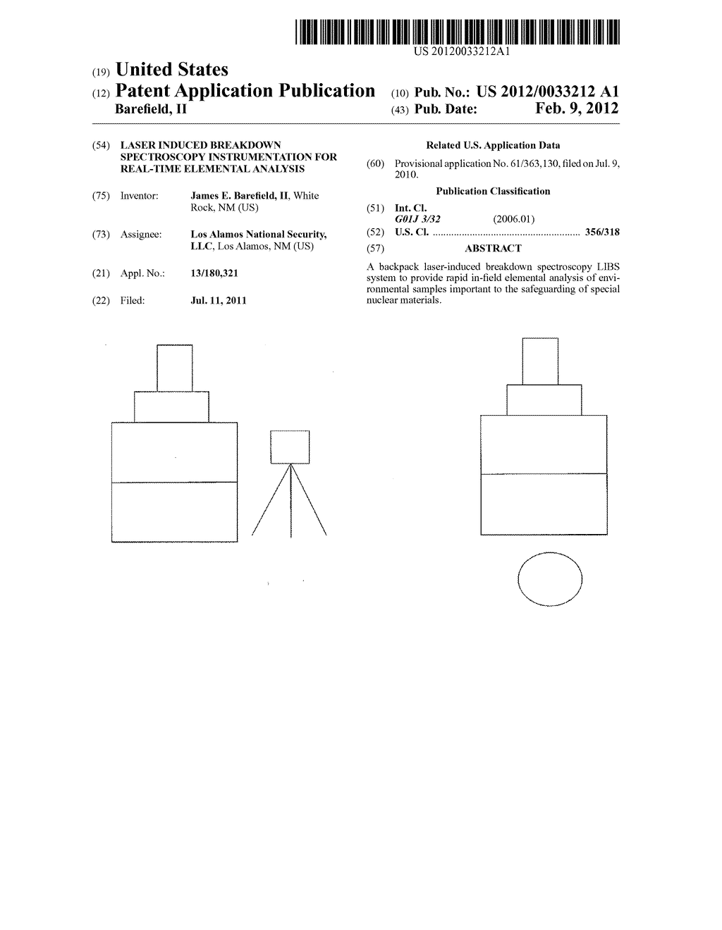LASER INDUCED BREAKDOWN SPECTROSCOPY INSTRUMENTATION FOR REAL-TIME     ELEMENTAL ANALYSIS - diagram, schematic, and image 01