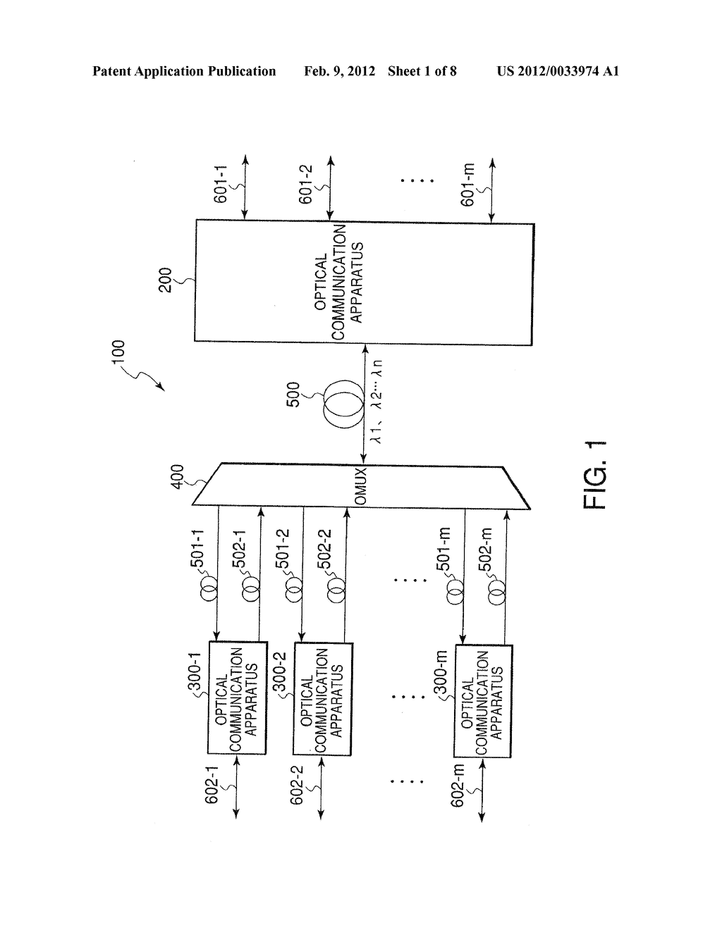 OPTICAL COMMUNICATION SYSTEM, OPTICAL COMMUNICATION APPARATUS, AND OPTICAL     COMMUNICATION METHOD THEREOF - diagram, schematic, and image 02