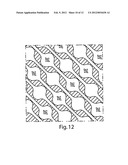 SANITARY TISSUE PRODUCTS COMPRISING A SURFACE PATTERN AND METHODS FOR     MAKING SAME diagram and image
