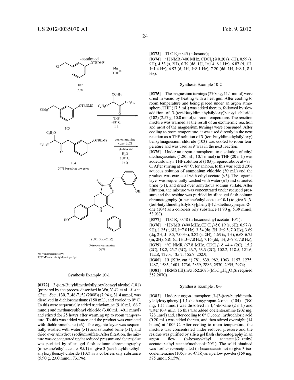 COELENTERAZINE ANALOGS AND MANUFACTURING METHOD THEREOF - diagram, schematic, and image 32