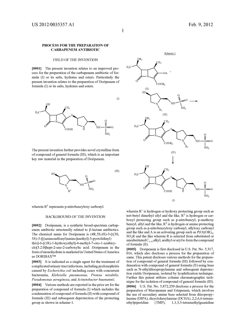 PROCESS FOR THE PREPARATION OF CARBAPENEM ANTIBIOTIC - diagram, schematic, and image 04