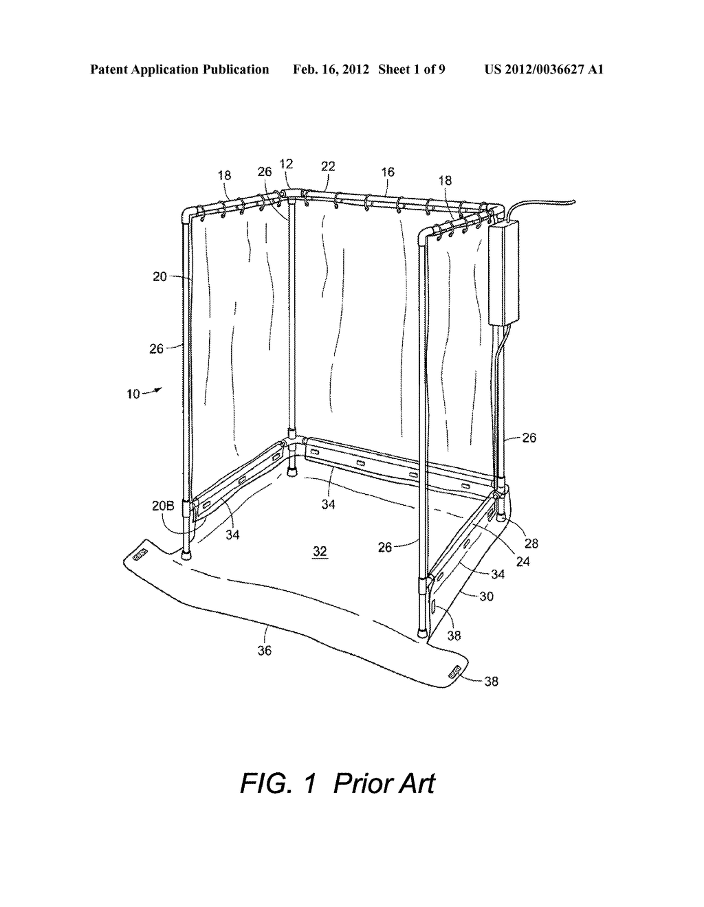 PORTABLE AND HANDICAP ACCESSIBLE SHOWER STALL - diagram, schematic, and  image 02