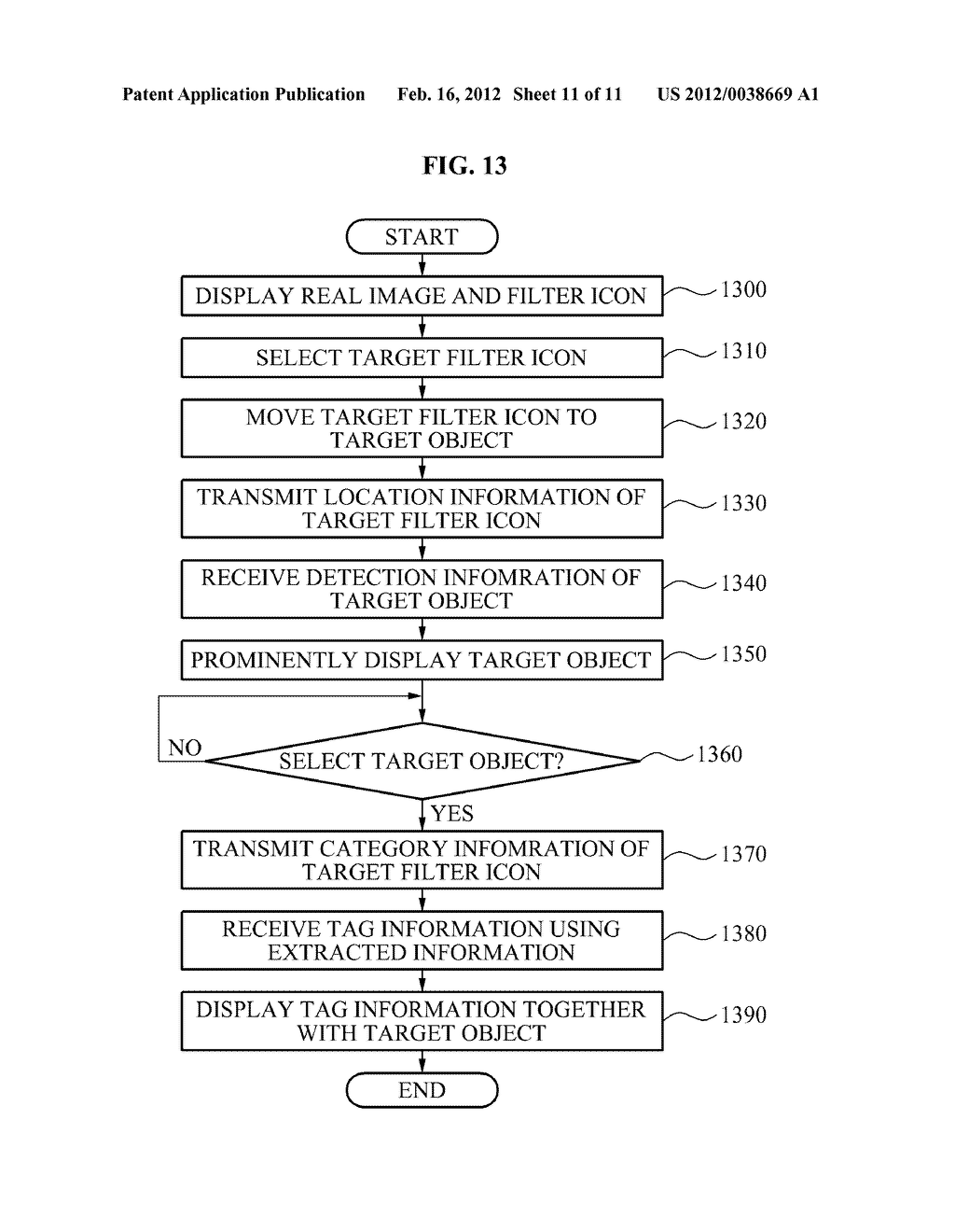 USER EQUIPMENT, SERVER, AND METHOD FOR SELECTIVELY FILTERING AUGMENTED     REALITY - diagram, schematic, and image 12