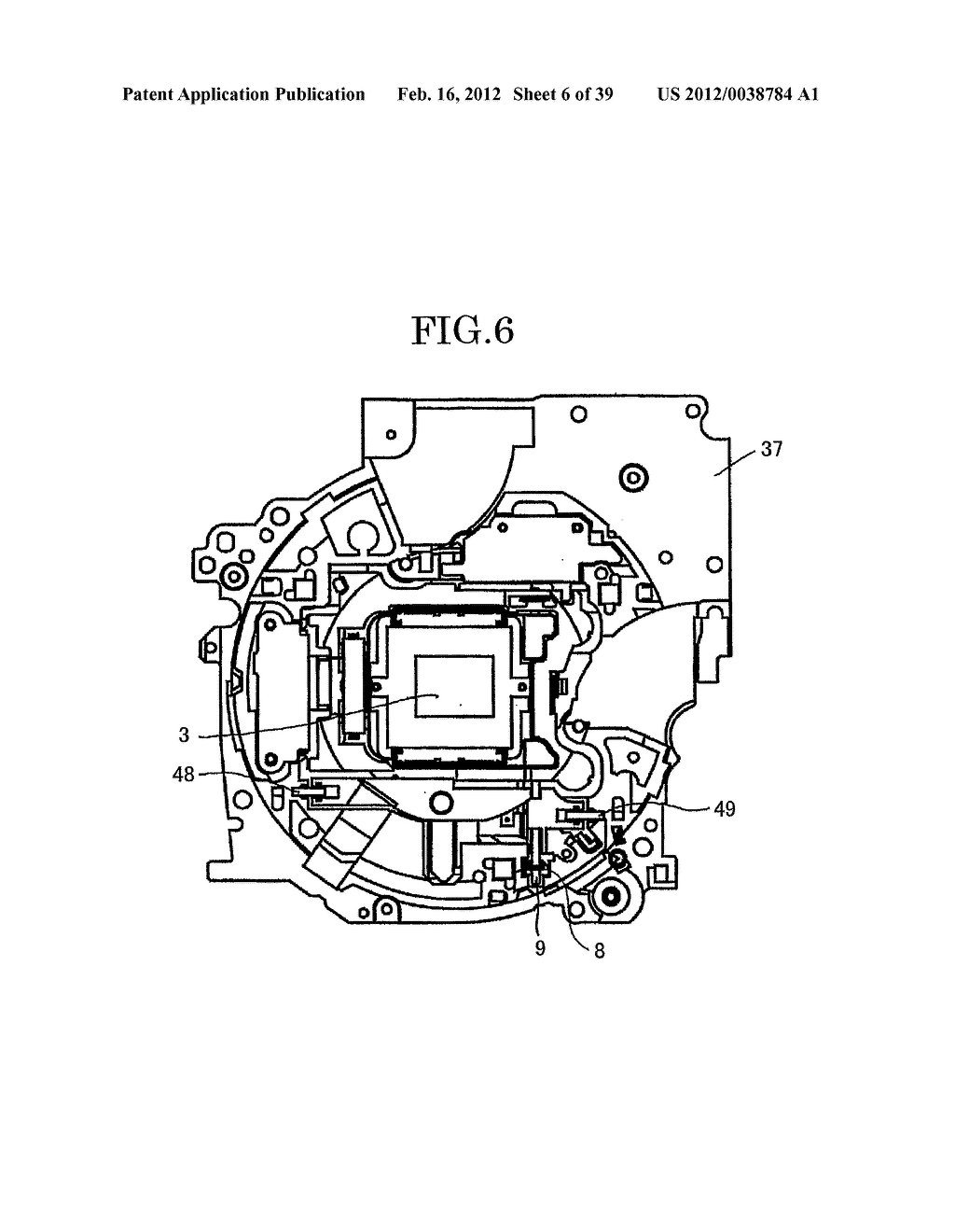 SHAKE CORRECTING SYSTEM, LENS BARREL, IMAGING DEVICE AND HAND-HELD DATA     TERMINAL - diagram, schematic, and image 07