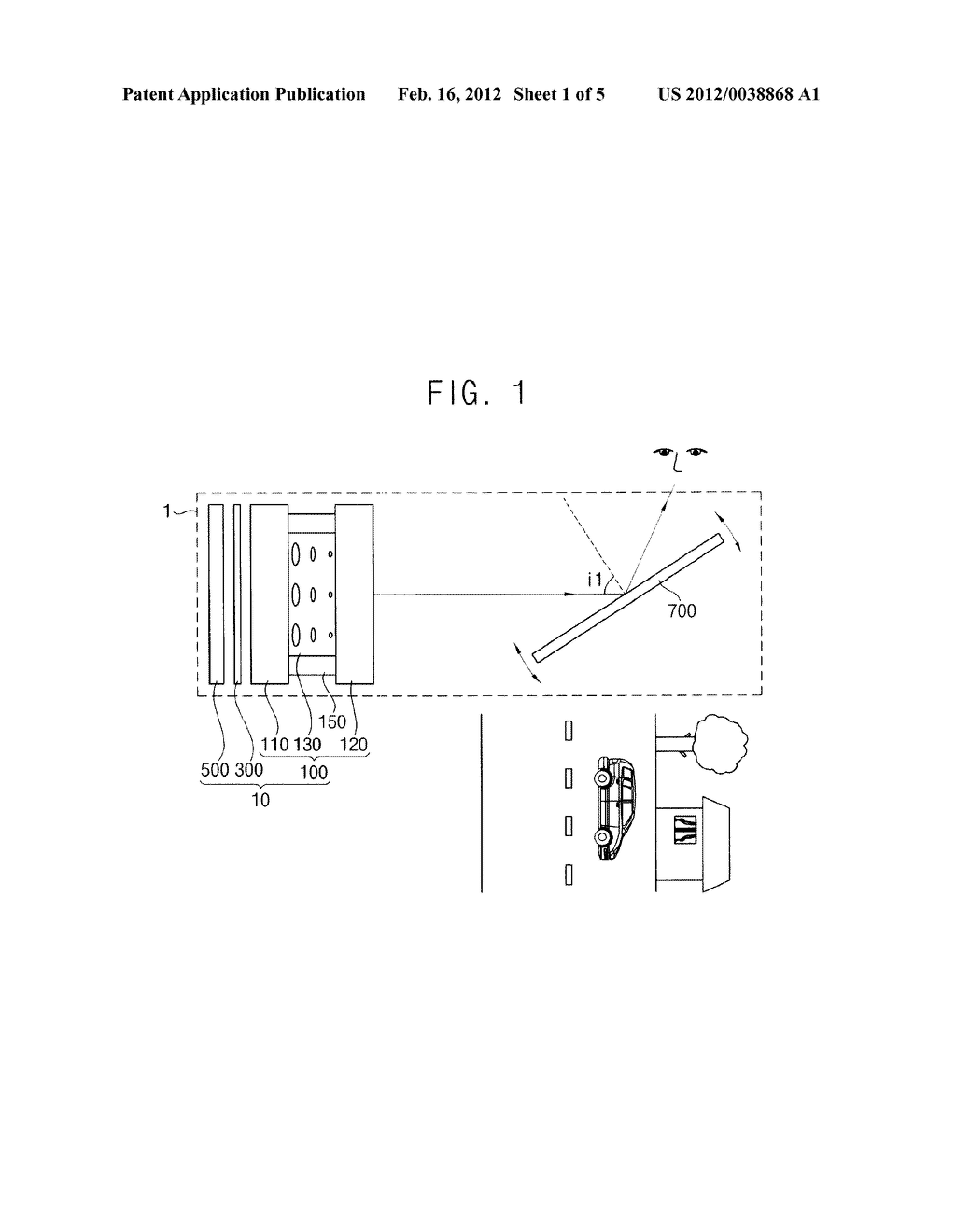TRANSPARENT DISPLAY DEVICE AND DISPLAYING METHOD USING THE SAME - diagram, schematic, and image 02