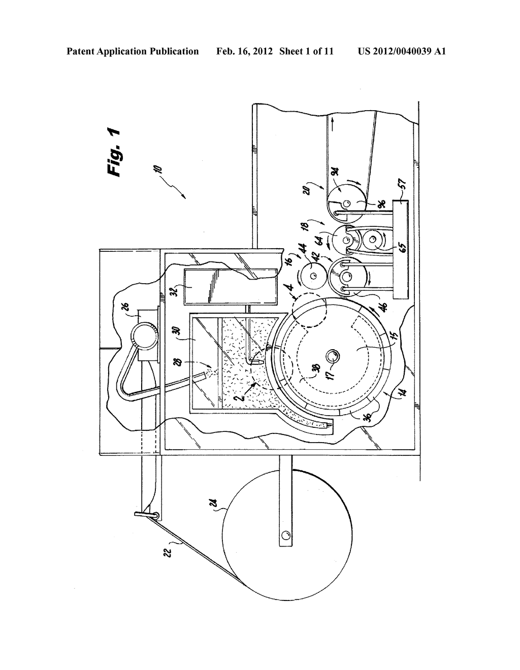 APPARATUS FOR MAKING A FIBROUS ARTICLE HAVING A THREE DIMENSIONAL PROFILE - diagram, schematic, and image 02