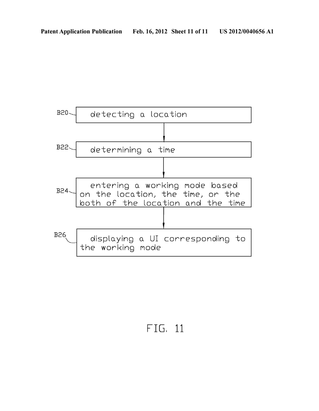 ELECTRONIC DEVICE AND METHOD FOR CONTROLLING THE WORKING MODE THEREOF - diagram, schematic, and image 12