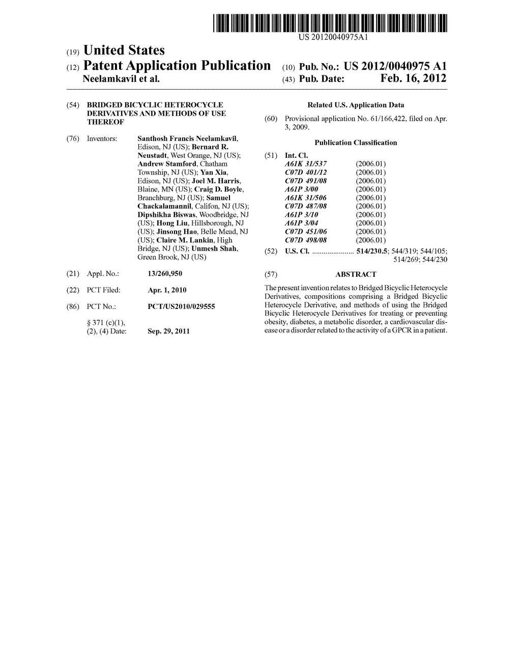 BRIDGED BICYCLIC HETEROCYCLE DERIVATIVES AND METHODS OF USE THEREOF - diagram, schematic, and image 01