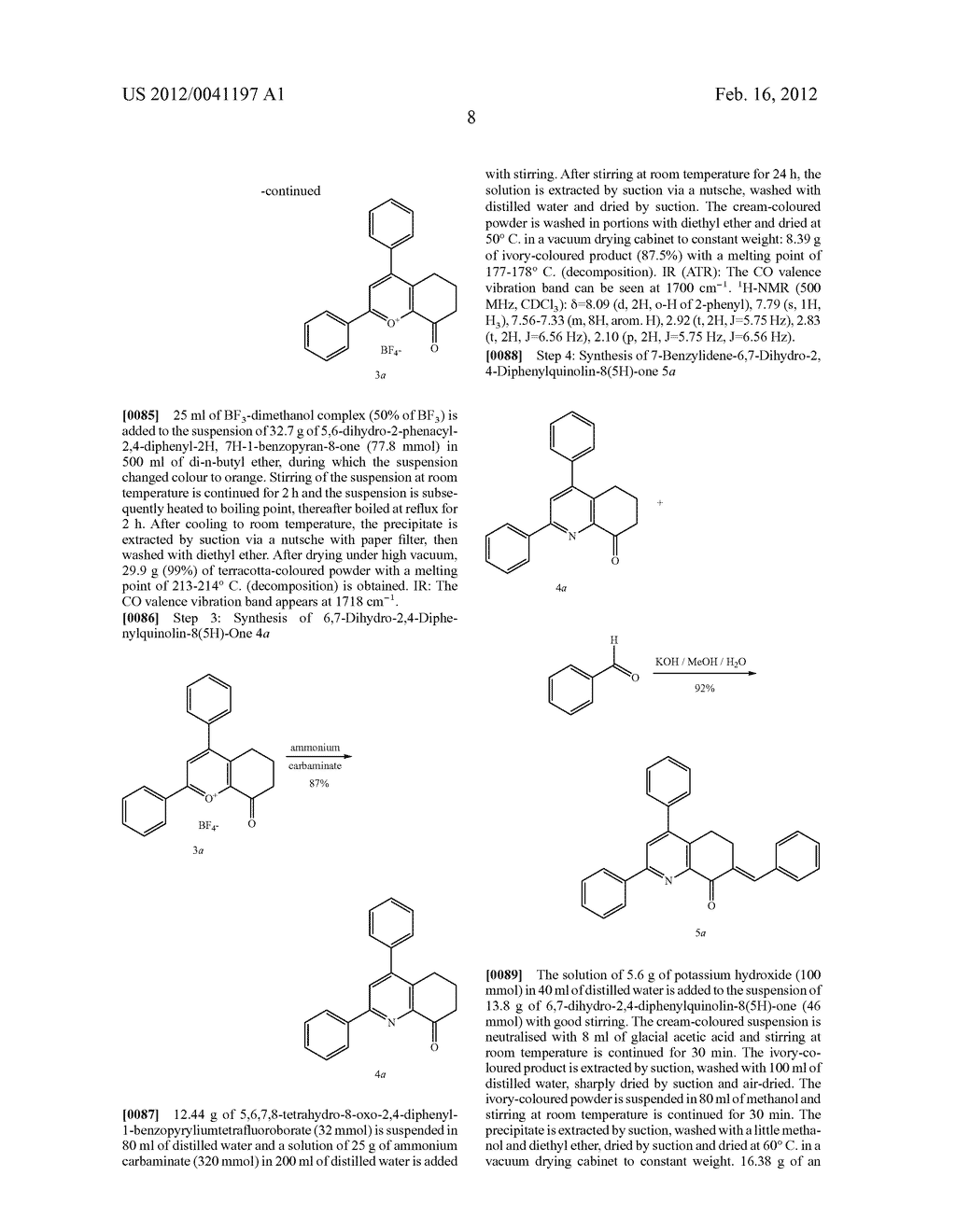 Pyrido[3,2-h]quinazolines and/or 5,6-dihydro Derivatives Thereof, a Method     for the Production Thereof and Doped Organic Semiconductor Material     Containing These - diagram, schematic, and image 09