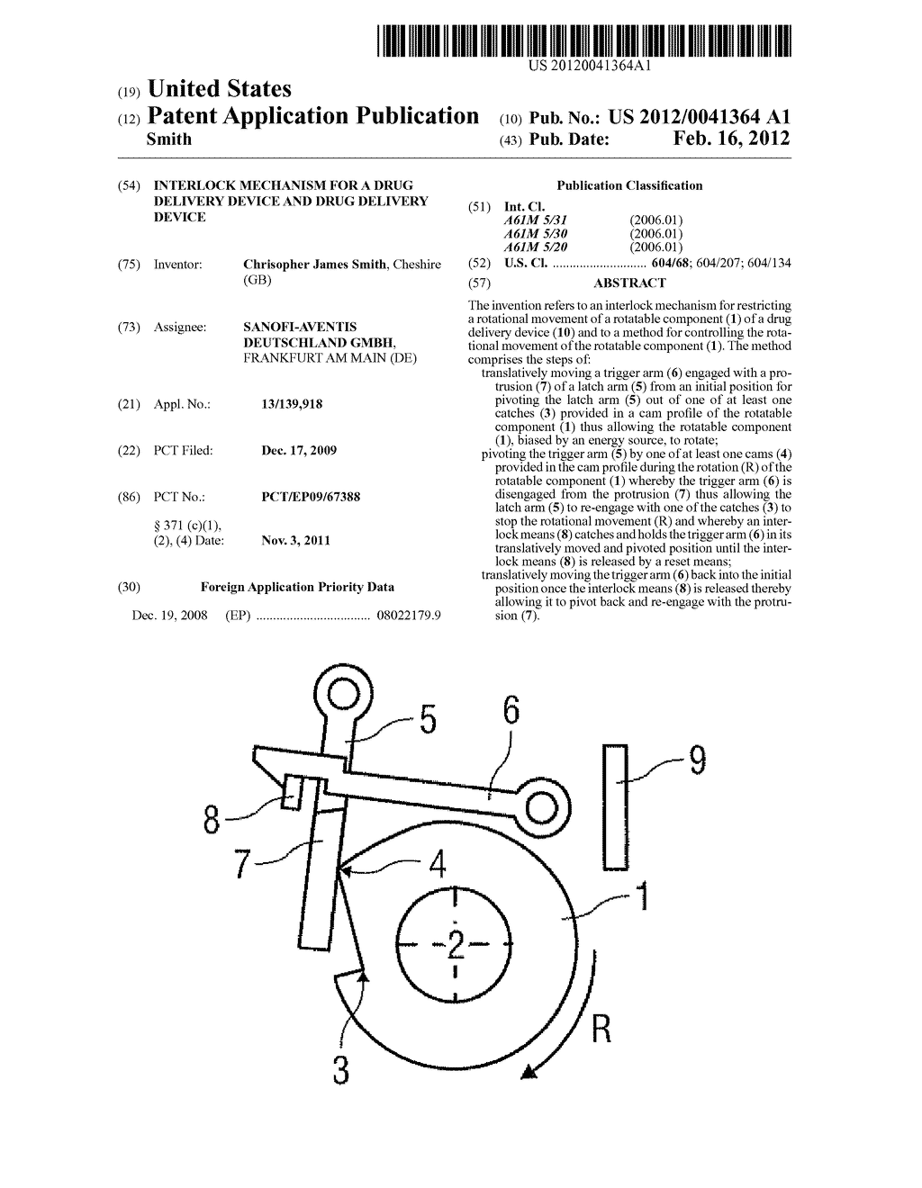 INTERLOCK MECHANISM FOR A DRUG DELIVERY DEVICE AND DRUG DELIVERY DEVICE - diagram, schematic, and image 01