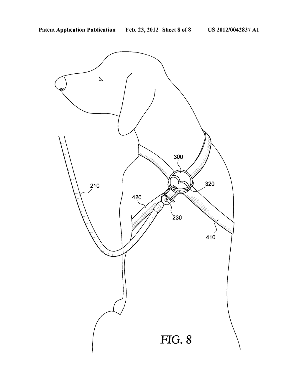 DOG LEASH SYSTEM WITH CONVERTIBLE COLLAR AND HARNESS - diagram, schematic, and image 09