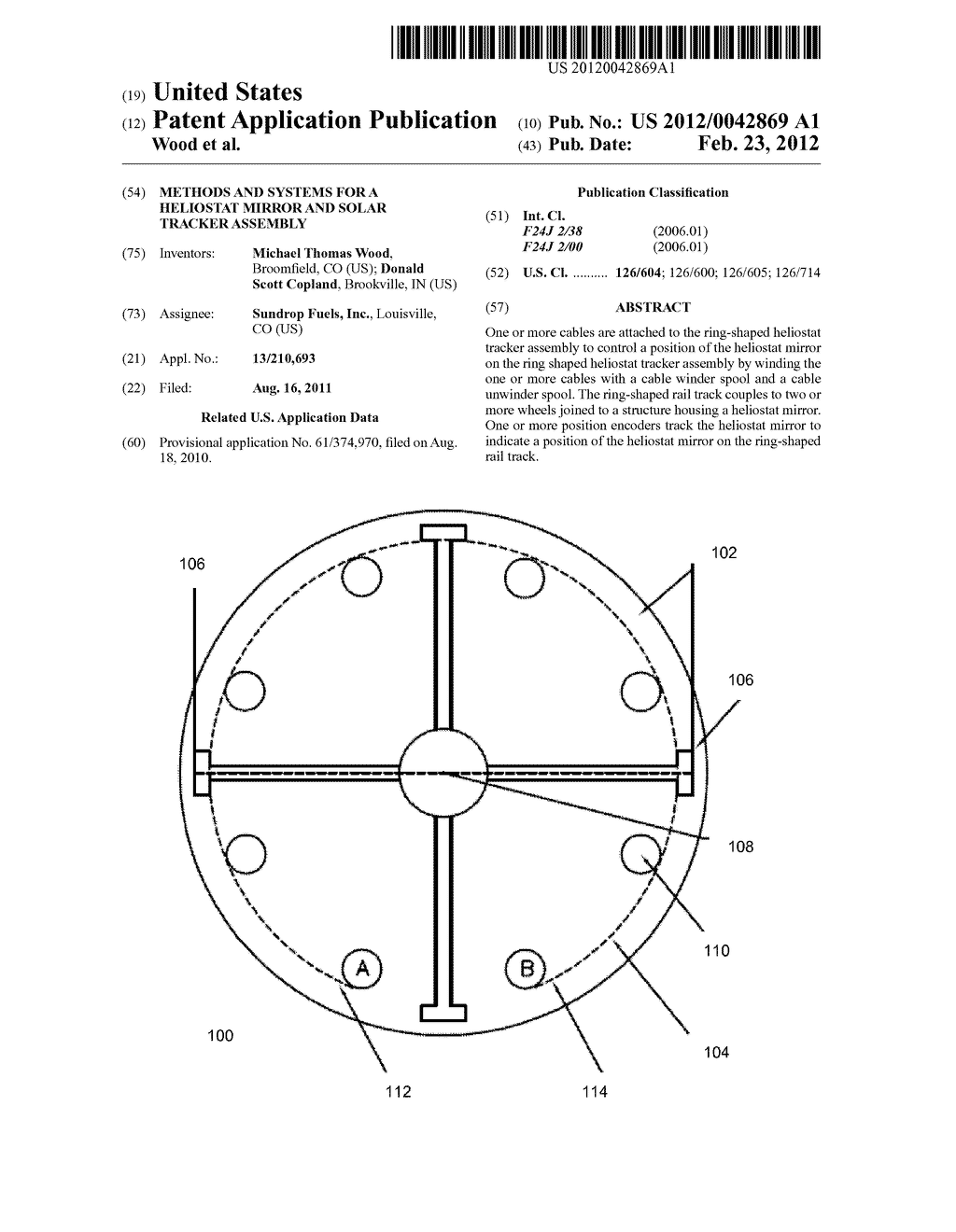 METHODS AND SYSTEMS FOR A HELIOSTAT MIRROR AND SOLAR TRACKER ASSEMBLY - diagram, schematic, and image 01