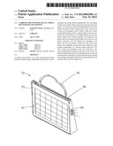 Carrying bag with solar cell phone recharger and lighting diagram and image
